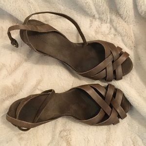 Ugg wedge sandals. Size 9. Brown